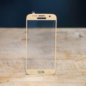 3D Panzerglas Samsung Galaxy S7 Gold