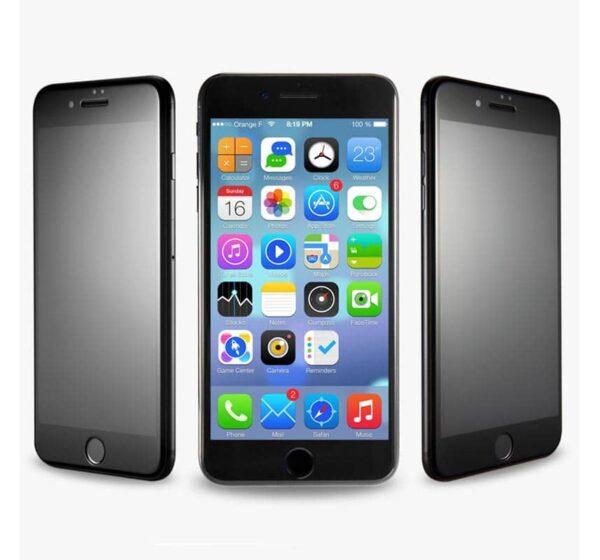 Privacy Panzerglas für das iPhone 7 Plus mit Blickschutzfilter schwarz
