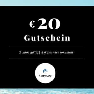 Gutschein EUR 20 flightlife Black Dots Gift Voucher