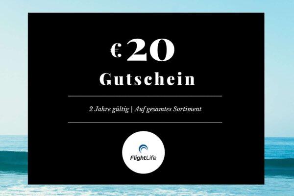 Gutschein EUR 20 flightlife Black Dots Gift Voucher